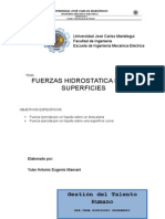 Fuerzas Hidrostaticas Sobre Las Superficies - Copia