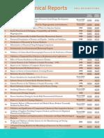 Pda Technical Reports List