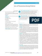 Clinical Predictors of Pneumonia