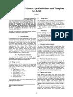 Manuscript Template AJSE