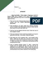 Affidavit of Marj