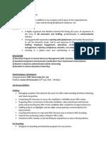 resume of mamita bhattacharjee