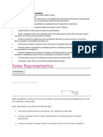 Sales Representative Job Responsibilities