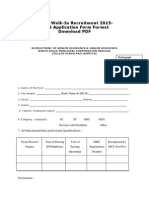 NDMC Walk-In Recruitment 2015-2016 Application Form Format Download PDF