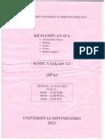 Soal UM UNDIP 2012 (IPA)