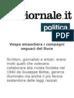 Vespa Smaschera i Compagni Seguaci Del Duce_da Il Giornale