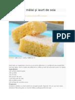 Prăjitură Cu Mălai Şi Iaurt de Soia