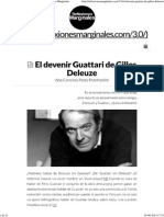 El Devenir Guattari de Gilles Deleuze _ Reflexiones Marginales