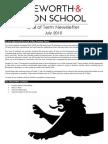 Newsletter End of Summer Term