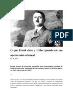 O Que Freud Disse a Hitler Quando Ele Era Apenas Uma Criança