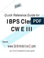 IBPS ClerksIII Quick Reference Guide