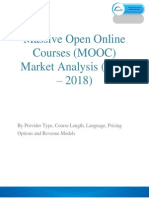 Massive Open Online Courses (MOOC) Market is Expected to Reach Around $255 Million By 2018.