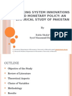 Banking System innovations and monetary policy