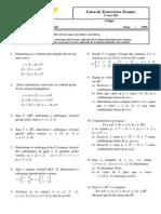 Lista de Exercícios Exame Algebra Linear 2º Sem 2014