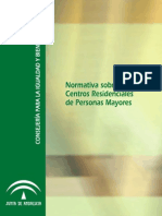 NORMATIVA CENTROS ADULTO MAYOR ANDALUC+IA