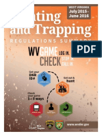 2015-2016 West Virginia Hunting and Trapping Regulations Summary