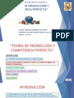Teoría de Producción y Competencia Perfecta