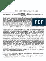 Hempton - Methodists and Law - JR Bulletin