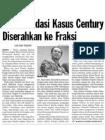 Rekomendasi kasus Century diserahkan ke fraksi