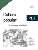 Cultura Popular en Busca de Una Definición