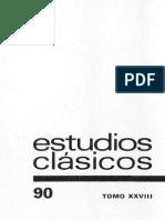 Revista Estudios Clásicos nº 90