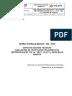 Nt 036-2005 Aisladores de Porcelana Para Redes de Distribucion y Para Baja Tension