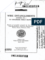 Wire Entanglements Addenda No 1 to Engineer Field Manual April 1918
