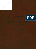 Manual for the Battery Commander Field 75 MM Gun 1917