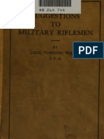 Suggestions to the Military RifleMen
