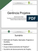 Aula 1 - Definição de Projetos I