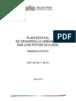 Plan Estatal de Desarrollo Urbano de SLP 2012 2030