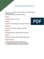 Organizational Chanage and Intervention Strategies