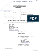 Anascape, Ltd v. Microsoft Corp. et al - Document No. 83