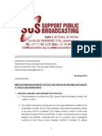 Written Representations by the Sos Coalition on the National Integrated Ict Policy Discussion Paper