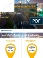 New in MapInfo Professional v12.5