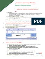 Gestion d'Un Document de Traitement de Texte