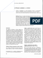 Fluoride Pit and Fissure Sealants a Review