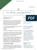 All Write - Fiction Advice_ June 2014