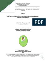 Tema 11 Educacion Sexual y Metodos de Planificacion Familiar