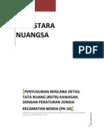 Proposal Teknis Penyusunan Rencana Detail Tata Ruang Kecamatan dan Zoning Regulation