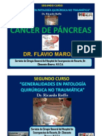 CANCER DE PANCREAS. SEGUNDO CURSO DE CIRUGÍA GENERAL.SERVICIO DE CIRUGÍA GENERAL DEL HOSPITAL DE EMERGENCIAS DE ROSARIO, DR. CLEMENTE ÁLVAREZ. CURSO DR. RICARDO ROFFO