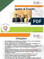Delegates & Events