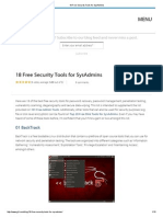 18 Free Security Tools for SysAdmins.pdf