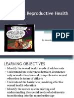 adolescent reproductive health education