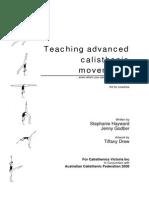 Teaching Advanced Calisthenic Movements