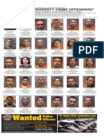 Most Wanted Property Crime Offenders, July 2015