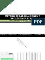 Método de Las Diluciones y Recuento en Placa