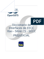 Diccionario de Interfaces ITAU Prejudicial EECC 20140822