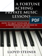 Make a Fortune Teaching Private Music Lessons - Lloyd Steiner