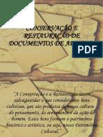 Conservacao e Restauracao de Documentos de Arquivo